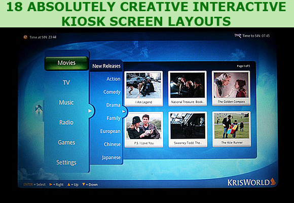 18 Absolutely Creative Interactive Kiosk Screen Layouts