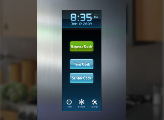 Microwave Oven Touchscreen