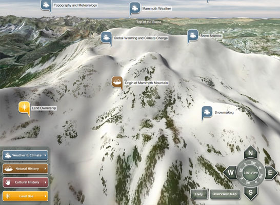 Mammoth Mountain 3D Interface