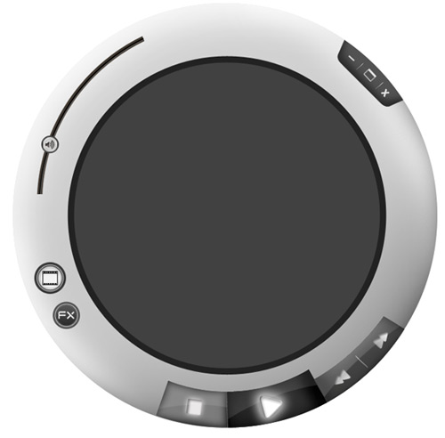 Media Player Screen Circle