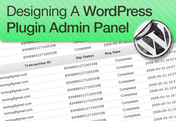 WordPress Plugin Admin Panel