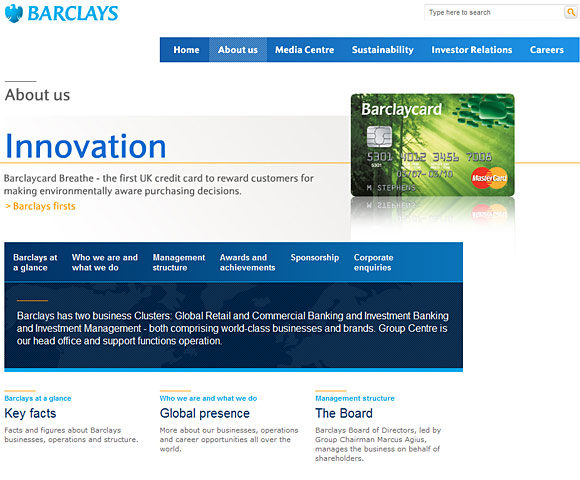Barclays About Us