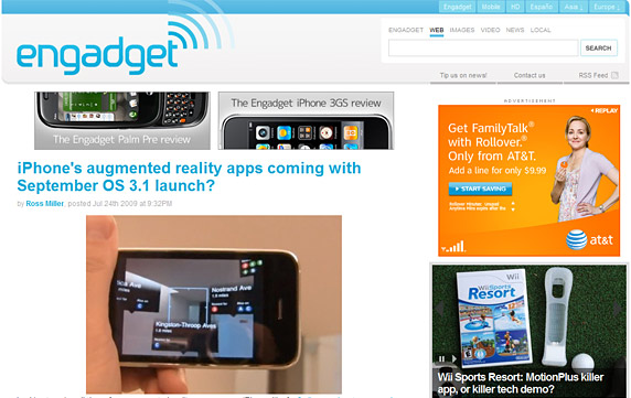 Engadget Homepage
