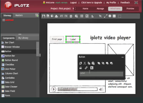 iPlotz Wireframe Maker