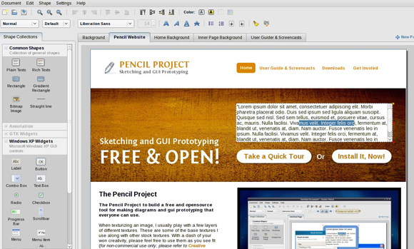 Pencil Project GUI Wireframe