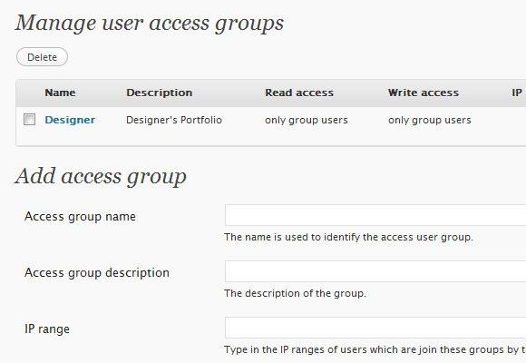 WordPress User Access Manager