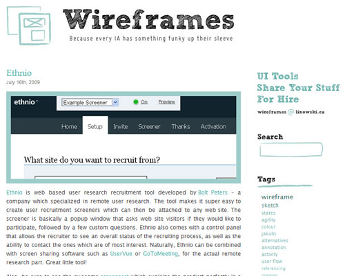 Wireframes Magazine