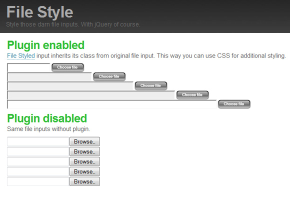 jQuery File Style