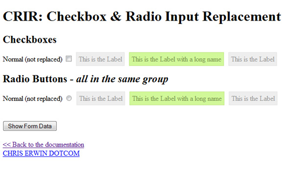 Check Box and Radio Button Replacement