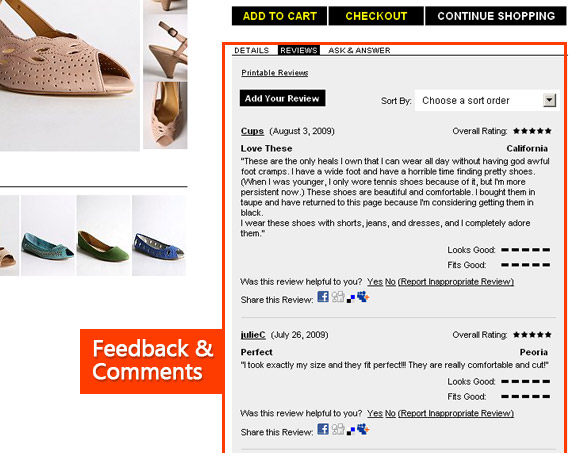 Urban Outfitters Product feedback