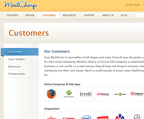 Mailchimp Customers Partners