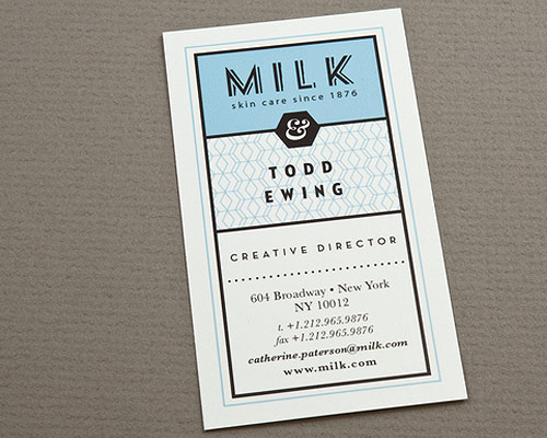 Trend spotting the beauty of using two colors black and white in the minimalist yet retro looking business card would work for a diner the red white and blue color palette gives the business card a very classic feel reheart Gallery