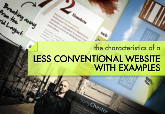 Characteristics of a less conventional website