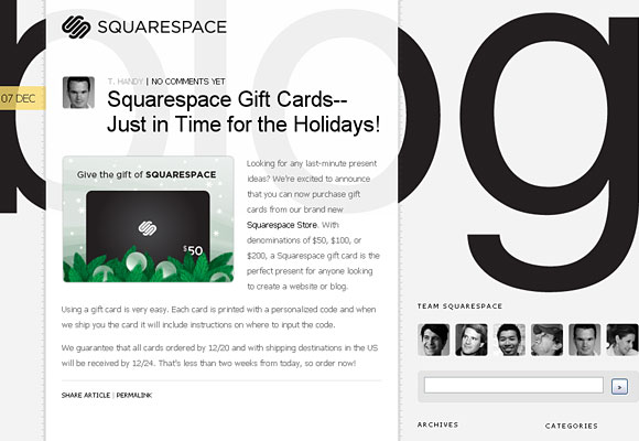Square Space Blog