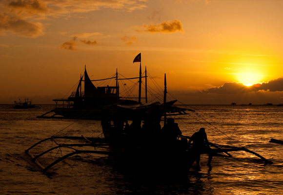 Fishing Boats Sunset