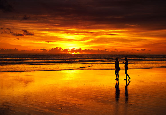 Girls and the Bali Sunset