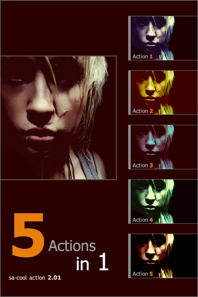 Sa 5 in 1 Photoshop Actions 2.01