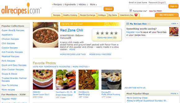 Eating into restaurant recipe web design 50 mouth watering websites more examples of recipe websites forumfinder Images