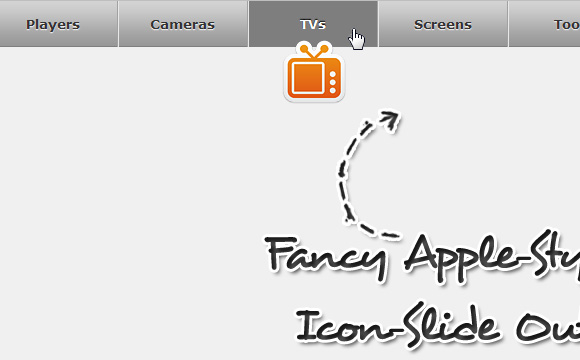 Icon Slide Menu