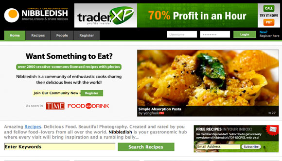Eating into restaurant recipe web design 50 mouth watering websites nibbledish forumfinder Images