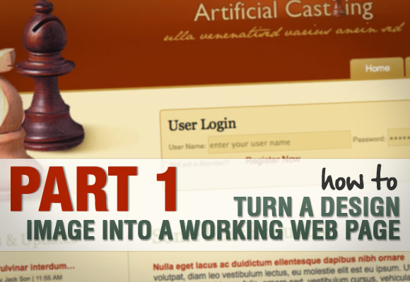 Part 1: Turn Design to Web Page