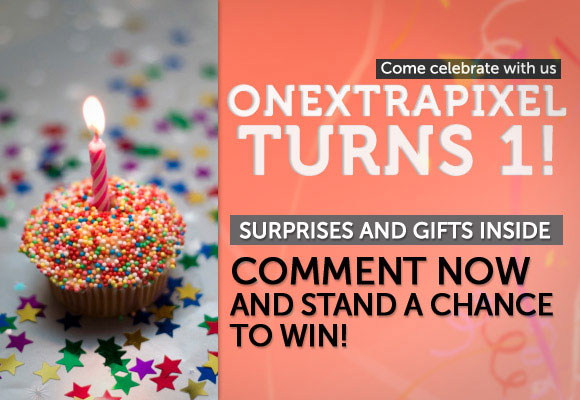 Onextrapixel Turns One with A New Look and Presents for You!
