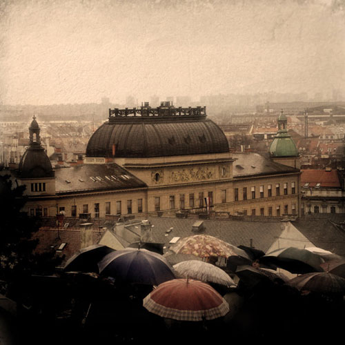 Zagreb In The Rain