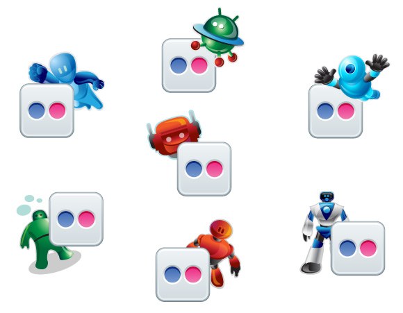 Flickr Robotic Icons