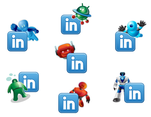 Linkedin Robotic Icons