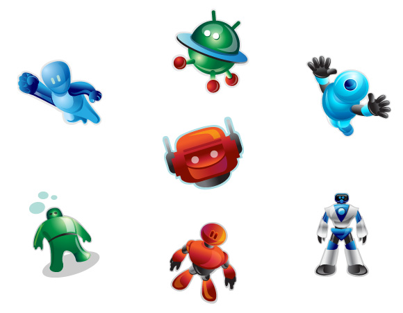 Plain Robotic Icons