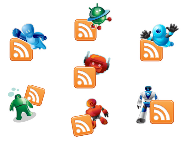 RSS Robotic Icons
