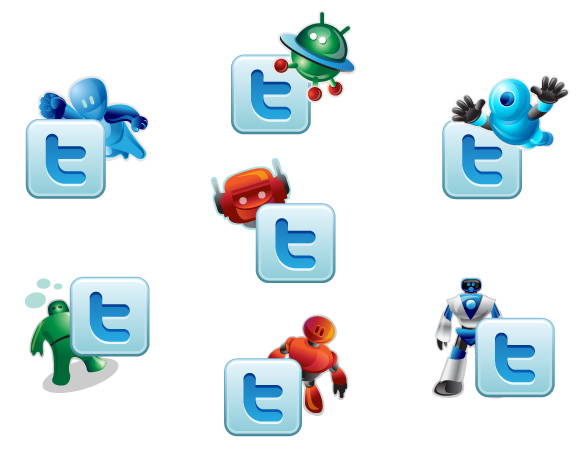 Twitter Robotic Icons