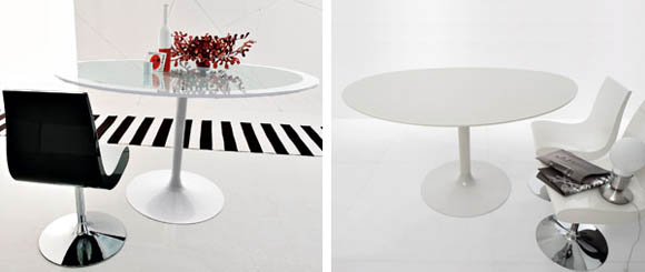 Oval Cocktail Tables - Polo glass pedestal table by Compar 2