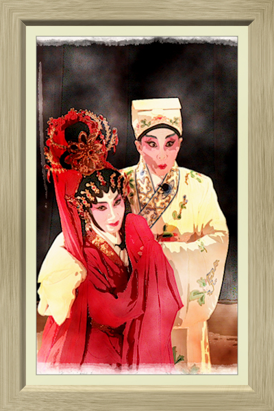 Chinese Opera in Water Colour