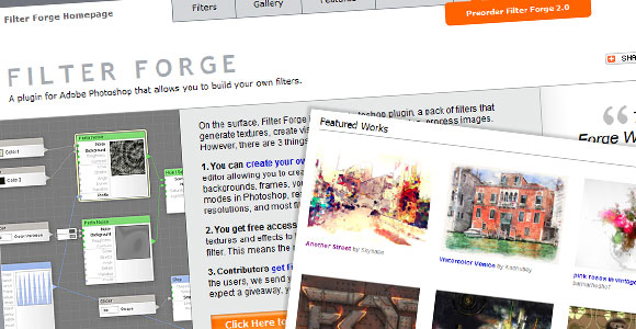 Filter Forge Homepage