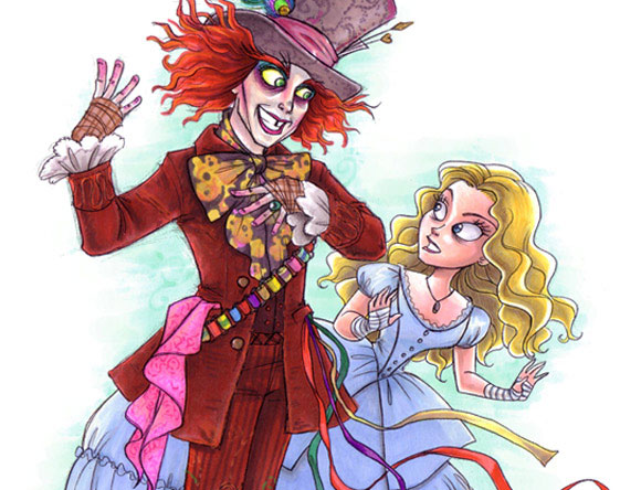 Burton's Alice and hatter by bri-chan