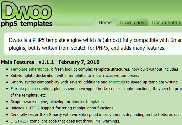 php template inheritance - template engine an overview of smarty templates other