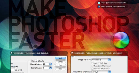 Make Photoshop Faster