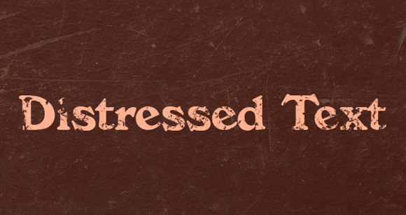 How to Distress Text in Seconds With Photoshop Brushes