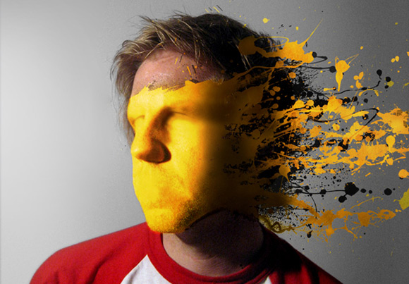 How to Mold Paint Splatter to a Face