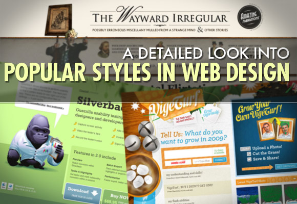A Look into Popular Styles in Web Design