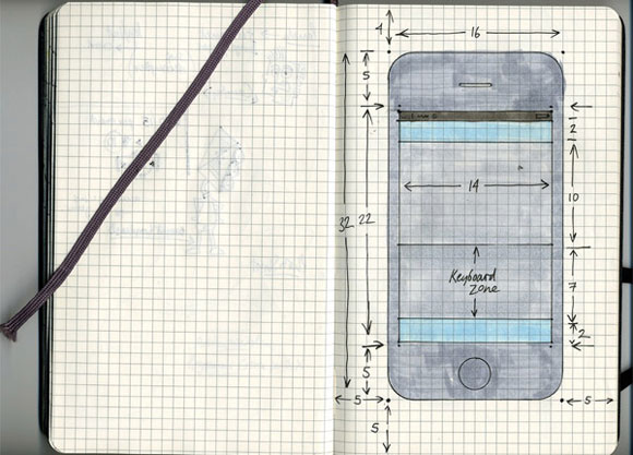 Moleskine iPhone Stencil Guide