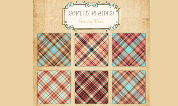 Softly Plaidly - Peachy Keen