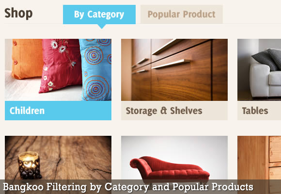 Filtering by Category and Popular Products