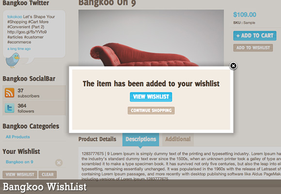 Wishlist Feature for Members