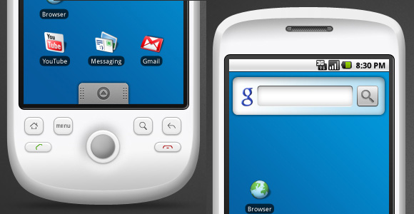 Android GUI for Photoshop (PSD)