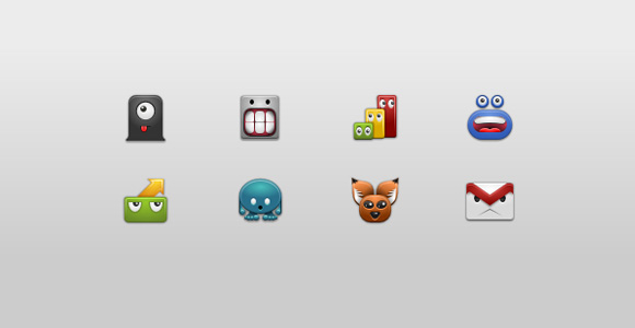 Free Android 2.x Monster Icons