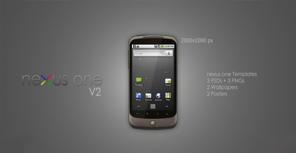 Google Nexus One V2 PSD