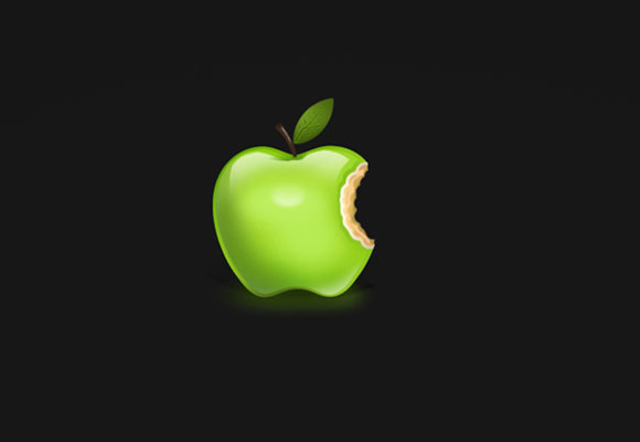 Apple Wallpaper - Black
