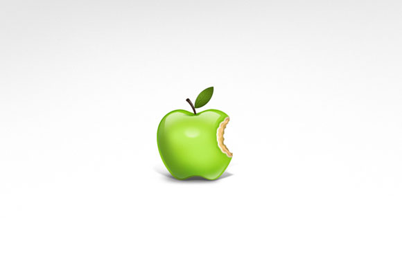 Apple Wallpaper - White